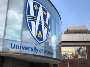 An exterior of the University of Windsor on April 17, 2017.