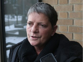 Louise Martens speaks with reporters outside the Provincial Court of Justice in Windsor on January 10, 2017.