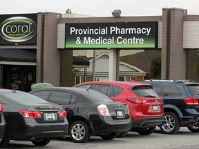 Outside the Provincial Pharmacy & Medical Centre at 1400 Provincial Road in south Windsor on June 9, 2017.