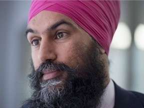 Federal NDP leadership candidate Jagmeet Singh is photographed in Ottawa on Sept. 19, 2017.