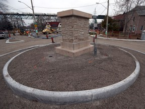 The roundabout on Sandwich Street at University Avenue West and Riverside Drive in Windsor will be open by Nov. 24, 2017.