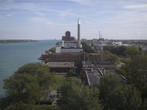 The view on Oct. 4, 2017, looking east towards Hiram Walker & Sons, named 2018 Canadian Distillery of the Year, from atop the silos at J.P. Wiser, maker of the 2018 Canadian Whisky of the Year.