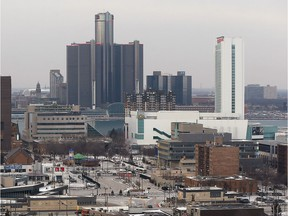 A view of Windsor's downtown with Detroit in the background is shown on Jan. 18, 2018.