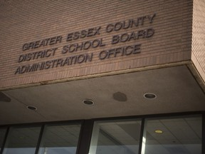 Data breach. The Greater Essex County District School Board administration building is shown Nov. 22, 2017.