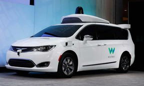 A Chrysler Pacifica equipped with Waymo self-driving technology is shown in this January 2017 file photo.