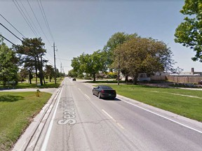 County Road 20 (Seacliff Drive) heading out of Leamington toward Kingsville is shown in this 2014 Google Maps image.