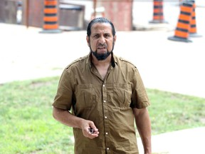 Jimy Al-Ubeidi arrives at Ontario Court of Justice for a judge's decision August 17, 2018.