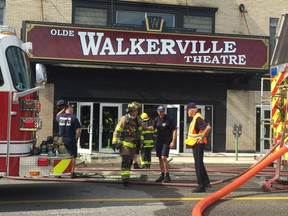 A fire caused about $15,000 of damage in the entryway of the Olde Walkerville Theatre Saturday, Sept. 1, 2018.