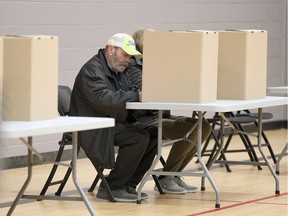 Area residents vote in the municipal election at Capri Pizzeria Recreation Complex in South Windsor on Election Day in Windsor Oct. 22, 2018.