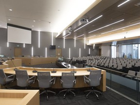 The interior of council chambers in the new City Hall is pictured Thursday, Oct. 25, 2018.