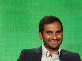 Actor and stand-up comedian Aziz Ansari during an NBC promotional event for Parks and Recreation in Pasadena, California, in January 2015.