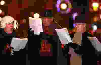 The Bedford United Church Choir sings christmas carols to those attending the Windsor Santa Claus Parade in Sandwich in 2011.