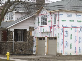 A large addition to a home on the corner lot of Windermere Road and Richmond Street is shown Tuesday, February 5, 2019.