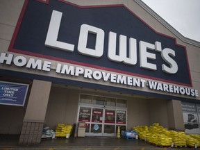The exterior of Lowe's Home Improvement Wharehouse on Provincial Rd., is seen on Feb. 4, 2019.