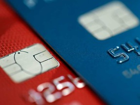 Credit cards are shown in this 2015 file photo.