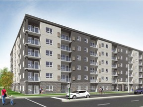 An artist's rendering by Baird AE Windsor shows the 147-unit residential project by Piroli Group Developments to be built at 850 Wyandotte St. W.