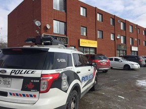 A Windsor police forensics unit vehicle at 3750 Tecumseh Rd. East on the morning of March 4, 2019.