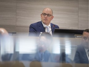 WINDSOR, ONT:. APRIL 1, 2019 - Mayor Drew Dilkens speaks at a special City Council meeting on the  2019 Operating and Capital Budget, Monday, April 1, 2019.