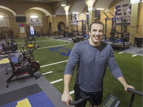 NFL tight end for the Oakland Raiders and LaSalle native, Luke Willson, trains at the new E.T.S (Elite Training Systems) facility at Kennedy Collegiate Institute, Monday, April 8, 2019.  The new facility is a partnership between the Greater Essex County District School board and E.T.S. and is located where the Kennedy pool once was.