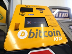 A Bitcoin ATM machine, located at Hasty Market on Tecumseh Road East in Windsor, is shown on June 21, 2018.
