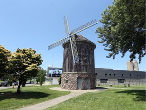 The old windmill on Windsor waterfront at Mill Street.
