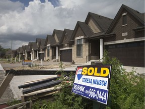 Newly constructed homes already sold are pictured on Silver Maple Street, Wednesday, June 5, 2019.