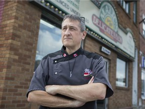 Alex Ethier, owner of Malic's Delicatessen, is pictured outside the shuttered restaurant in downtown Windsor, Wednesday, July 17, 2019. Ethier says he can't continue business downtown because of the litter, drug addicts and hookers, among other things.