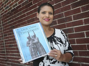 Irene Moore Davis, author of Our Own Two Hands: A History of Black Lives in Windsor from the 1700s Forward, is shown in Windsor on Aug. 16, 2019.