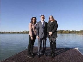 ocal NDP candidates Cheryl Hardcastle, left, Brian Masse and Tracey Ramsay are shown at a news conference in LaSalle on Friday, October 18, 2019, when they talked about the importance of protecting the Great Lakes.