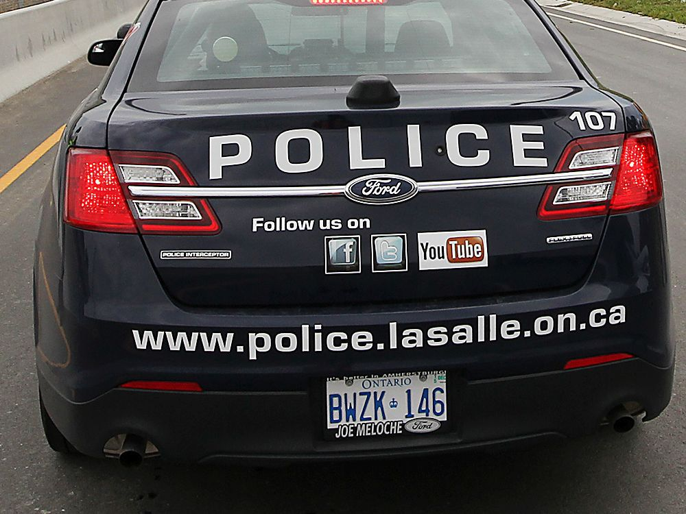 WINDSOR, ON. JUNE 25, 2015. Officials with the Herb Gray Parkway provided the media with a tour of a portion of the project on Thursday, June 25, 2015. A LaSalle Police officer who was getting familiarized with the parkway is shown during the tour. (DAN JANISSE/The Windsor Star) (For story by Dave Battagello)