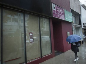 A proposed cannabis retail store at 545 Ouellette Avenue is pictured Thursday, Oct. 31, 2019.