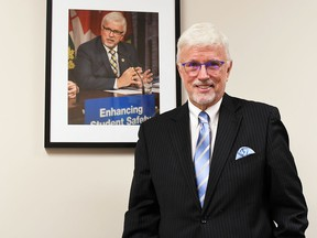 Chatham-Kent-Leamington MPP Rick Nicholls is shown in his Chatham consituency office following a year-end interview on Dec. 20. Tom Morrison/Chatham This Week