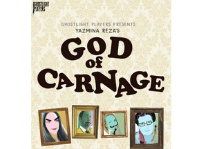 God of Carnage, the latest production from local theatre group Ghost Light Players, hits the stage next starting March 6, 2020, at The Shadowbox Theatre.