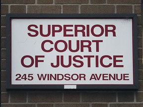 The Superior Court of Justice building in downtown Windsor.