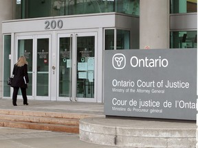 Ontario Court of Justice in Windsor, Ontario is seen in this April 30 file photo.