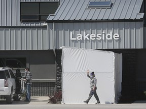 The exterior of Lakeside Produce in Leamington is shown on May 13, 2020.