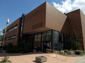 The Greater Essex County District School Board administration office is seen in Windsor.