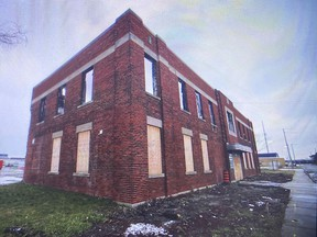 A city council committee will review a plan to turn this industrial brownfield property at 1370 Argyle Rd. in Windsor, shown on Tuesday, Jan. 5, 2021, into an apartment building complex.