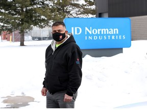 Blockade comes down. Unifor Local 195 president Emile Nabbout is shown at JD Norman Industries at 6845 Hawthorne Drive on Friday, Feb. 19, 2021. The Illinois-based company has declared bankruptcy in Canada but Unifor fought successfully for a financial settlement for the workers.