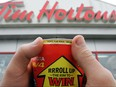 Tim Horton's Roll Up the Rim to Win contest coffee cup.