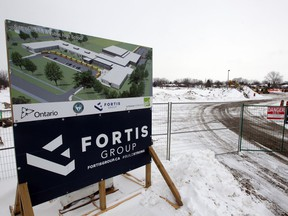 Amherstburg, Ontario. February 18, 2021.  A new public high school being built near the intersection of Victoria Street S. and Simcoe Street Thursday.  (NICK BRANCACCIO/Windsor Star)