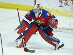 Moncton Wildcats' goalie Dakota Lund-Cornish, who is a Quebec Major Junior Hockey League veteran, will join the University of Windsor Lancers men's hockey team for the 2021-22 OUA season.     Image courtesy of the Quebec Major Junior Hockey League / Windsor Star