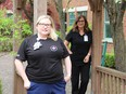 Lindsay Samoila (left) and Deb Frank are two of the many HDGH nursing staff who have stepped up during the demanding times of the Covid-19 pandemic.