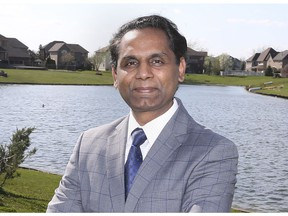 Rakesh Naidu, president of the Windsor-Essex Regional Chamber of Commerce, is shown outside his home on Tuesday, April 13, 2021.
