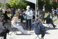 People at a vaccine pop-up at Jimmy Simpson Recreation Centre in Toronto on Thursday June 17, 2021.
