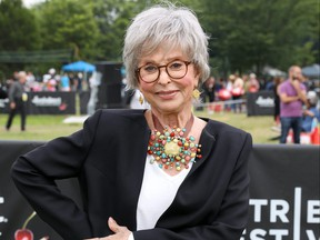 Rita Moreno poses at Tribeca Festival 2021's Borough to Borough Screenings hosted by FreshDirect at Soundview Park in the Bronx on June 13, 2021 in New York City.