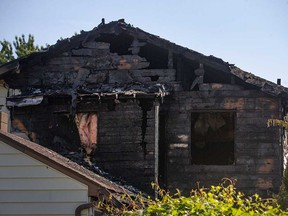 Aftermath of an overnight fire at a home in the 2400 block of Arthur Road in Windsor on June 11, 2021.