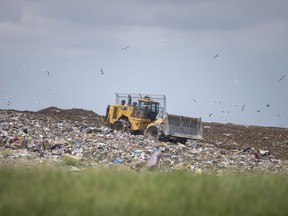 Heavy machinery is used at the Essex County Regional Landfill on Tuesday, June 1, 2021.