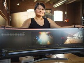 Nhu Tu, an editor and cinema photographer at Suede Productions who worked on the Discover the New Tom Patterson Theatre project, is pictured at her editing suite on Thursday, June 10, 2021.