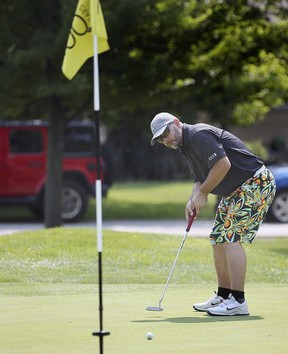 Nick Janick participates in the 100 Hole Golf Charity Event on Monday July 5, 2021 at Beach Grove Golf & Country Club in Tecumseh.